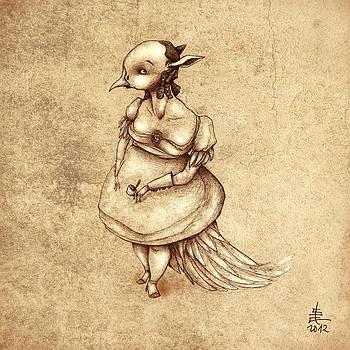 Bird Woman by Autogiro Illustration