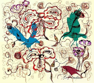 Birds and Swirls by Jan Steadman-Jackson