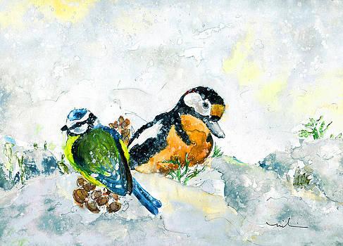 Miki De Goodaboom - Birds In Snow In Germany