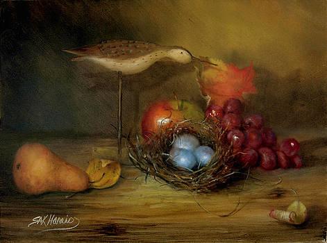 Birds Nest and Fruit by Sharen AK Harris