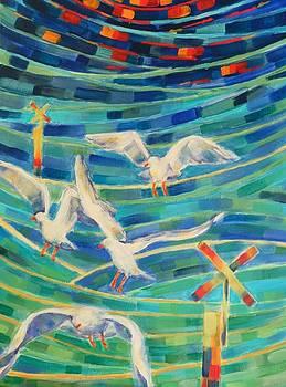 Birds on the Bay by Zofia  Kijak