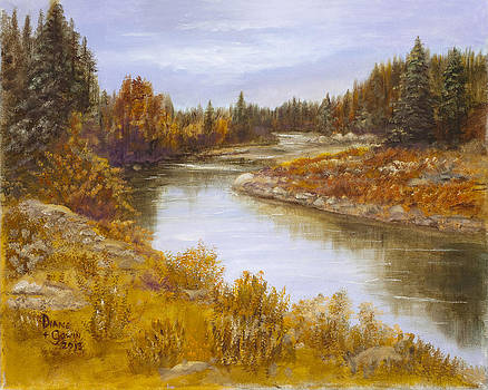 Bitterroot River by Diane Gowin