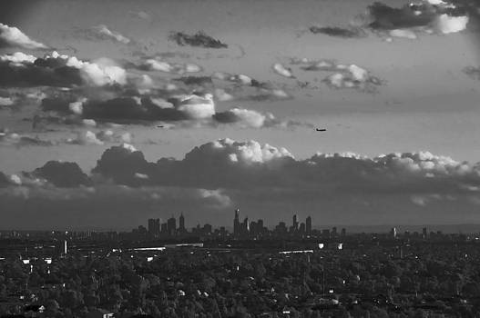 Black and White City at Sunset by Patrick OConnell