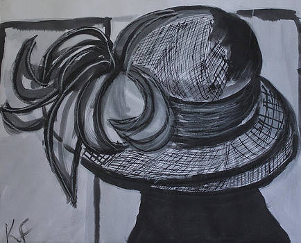 Kate Farrant - Black and White Hat