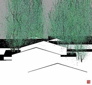 Black and white houses by GuoJun Pan