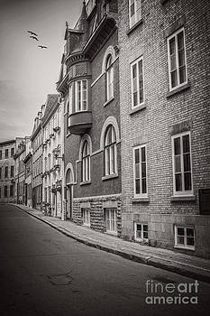 Edward Fielding - Black and white old style photo of Old Quebec City