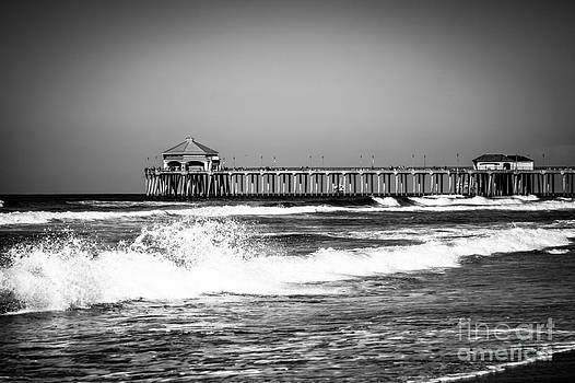 Paul Velgos - Black and White Picture of Huntington Beach Pier
