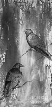 Black and White Ravens by Laurianna Taylor