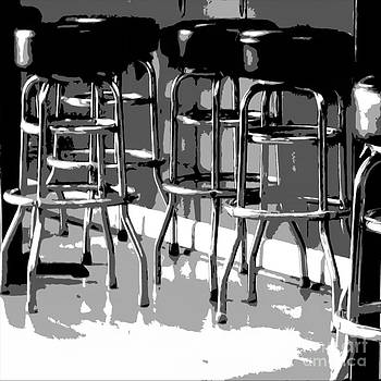 Black and White Seating Composition 4 by Bruce Tubman