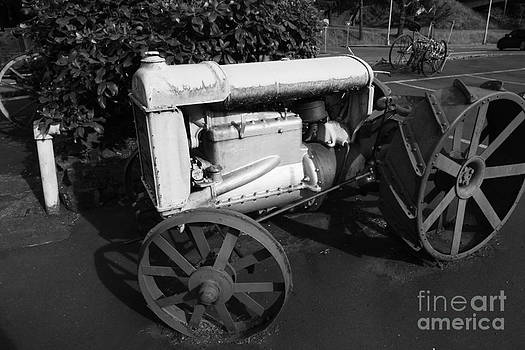 Black and white tractor by Walter Strausser