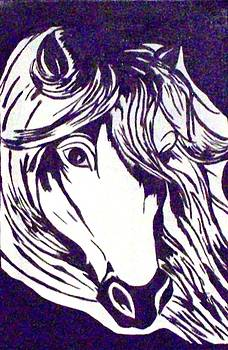 Black Horse by Lynette  Swart