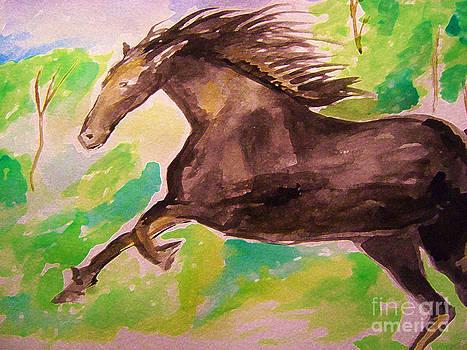 Black horse by Sidney Holmes