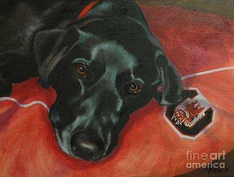 Black Labrador Retriever by Pet Whimsy  Portraits