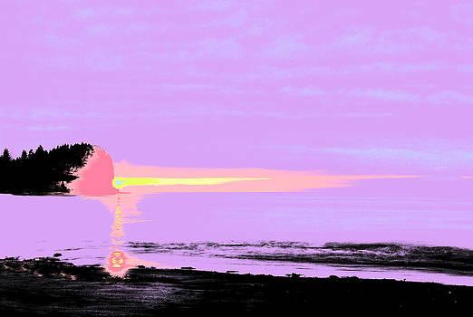 Black Light Sunset by Rod Mathis