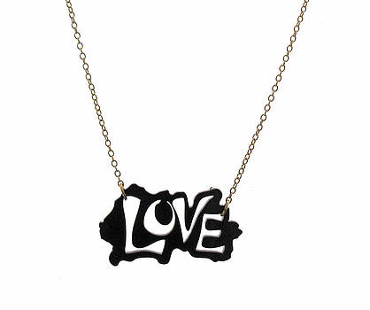 Black Love Necklace by Rony Bank