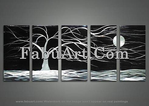 Black Tree Painting by FabuArt
