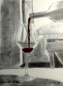 Black White and Red Wine by Chenee Reyes