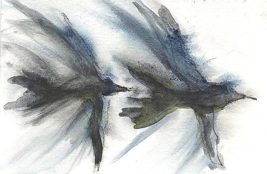 Blackbirds flight  by Sheba Goldstein