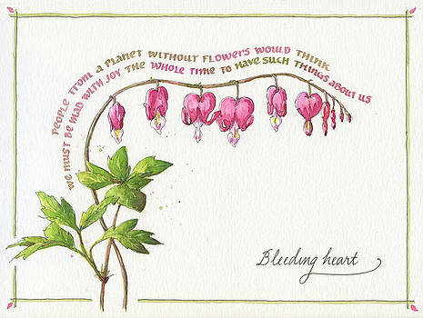 Bleeding Heart with Quote by Leslie Fehling