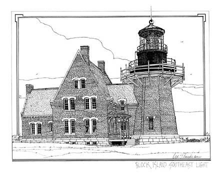 Block Island Southeast Light by Ira Shander