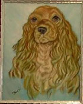Blonde Cocker by Pat Mchale