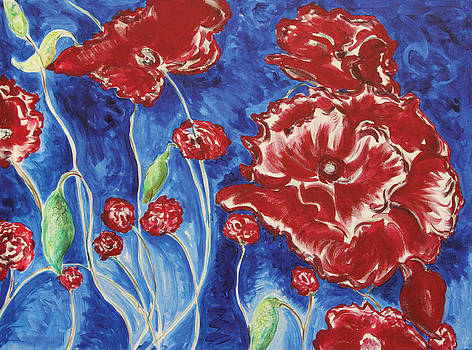 Blooming Poppies by Carrie Godwin