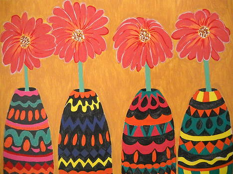 Blooms in Native Dress by Roberta Dunn