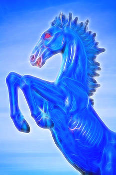 James BO  Insogna - Blucifer The Rearing Blue Mustang Horse