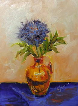 Donna Pierce-Clark - Blue and Orange