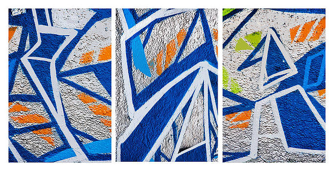 Art Block Collections - Blue and Orange Graffiti
