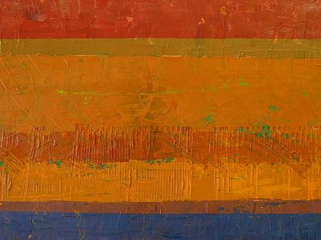 Michelle Calkins - Blue and Orange with Rust