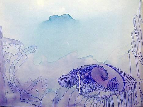 Blue and Purple Haze by Vicky Shaffer White