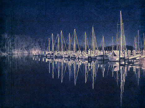 Blue And White Sailboats by Eleanor Ivins