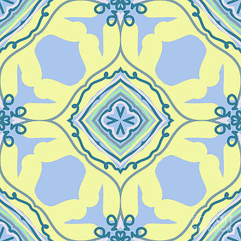 Blue and Yellow Bohemian Design by Savvycreative Designs