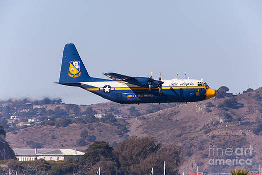 Wingsdomain Art and Photography - Blue Angels Fat Albert C130T Hercules At San Francisco Fleet Week 5D29572