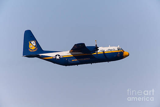 Wingsdomain Art and Photography - Blue Angels Fat Albert C130T Hercules At San Francisco Fleet Week 5D29575