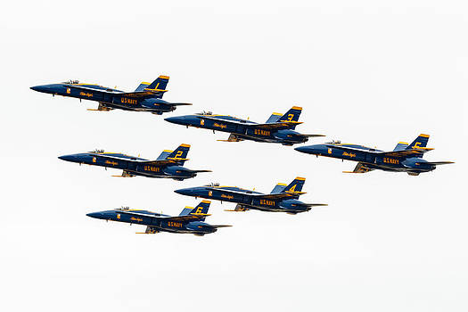 Blue Angels in Formation by John Zocco