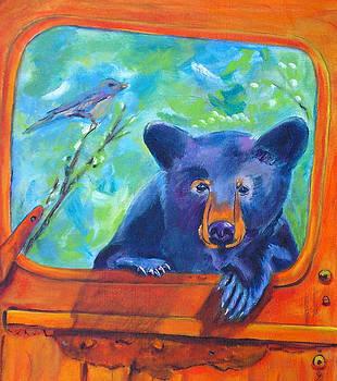 Blue Bird and Blue Bear by Andrea Folts