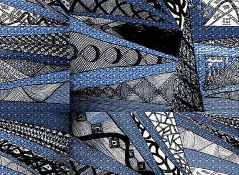 Blue Crazy Cones by Linda Francis