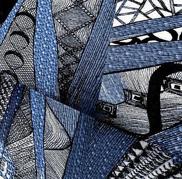 Blue Crazy Cones Two by Linda Francis
