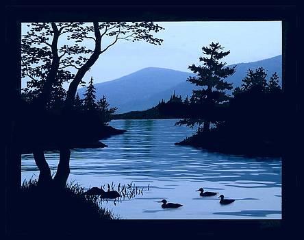 Blue Dawn on Lake George 11x14 by Linda Seifried