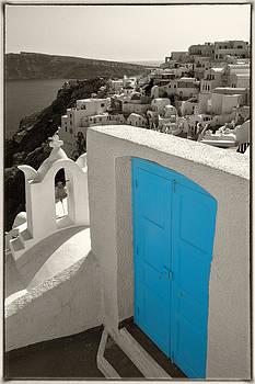 Blue Door of Oia 2 by Jack Daulton