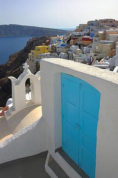 Blue Door of Oia by Jack Daulton