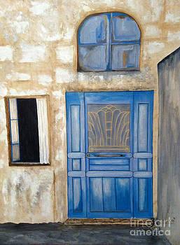 Blue Doorway by Brenda Brown