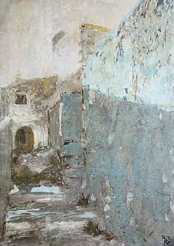 Blue Entrance by Florin Birjoveanu