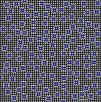 Blue Floating Squares by Gianni Sarcone