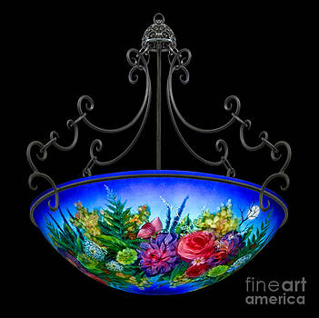 Blue Floral  by Mikael  Darni