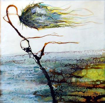 Blue Flower by Stream by Jennifer  Creech