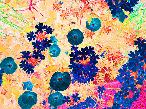 Blue Flowers by Louise Grant