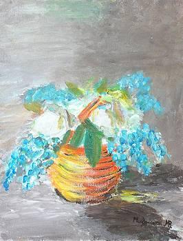 Blue flowers by Mauro Beniamino Muggianu